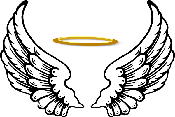 Wing svg angle. Angel wings with halo