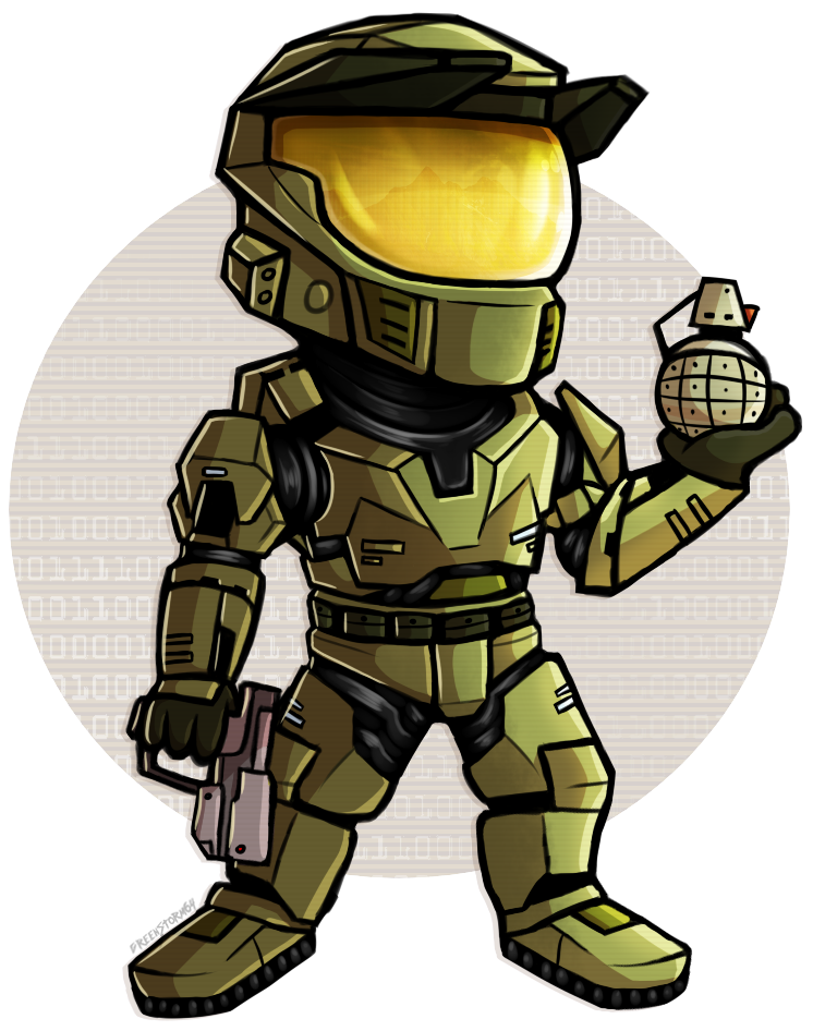 Halo png. Chibi chief by greenstorm