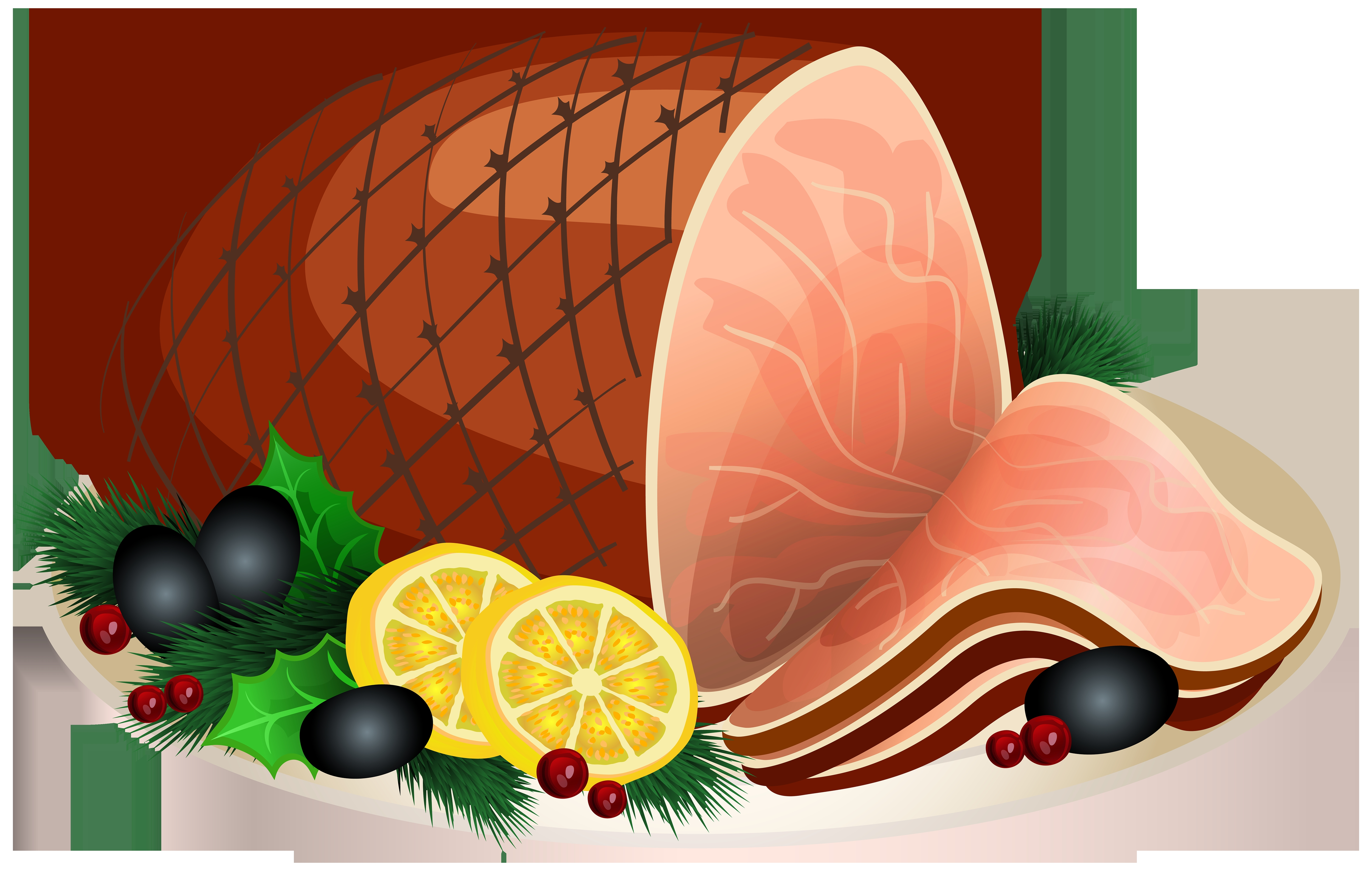 Ham clipart smoked meat. Red free icon of