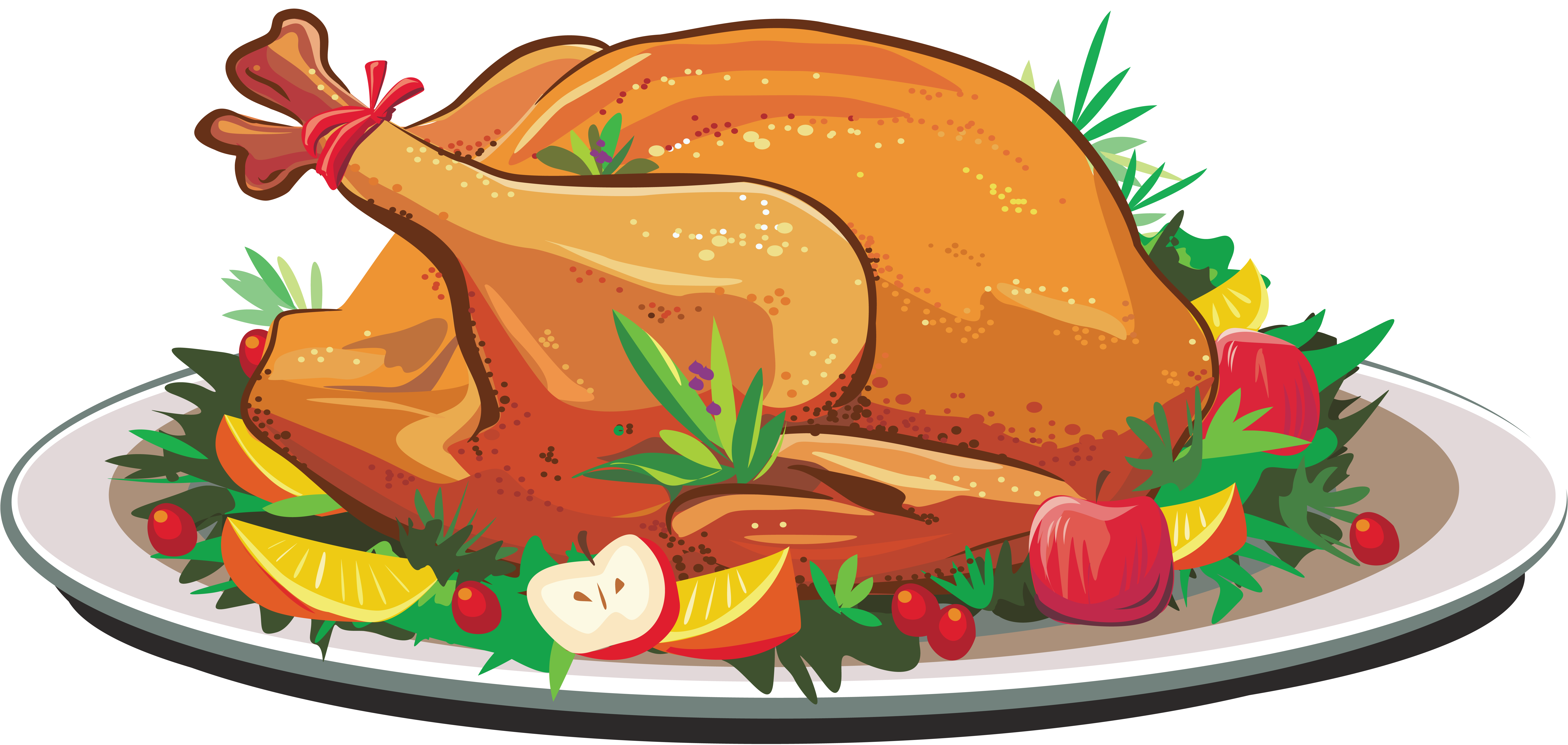 Drawing turkey cooked. Thanksgiving food clipart at
