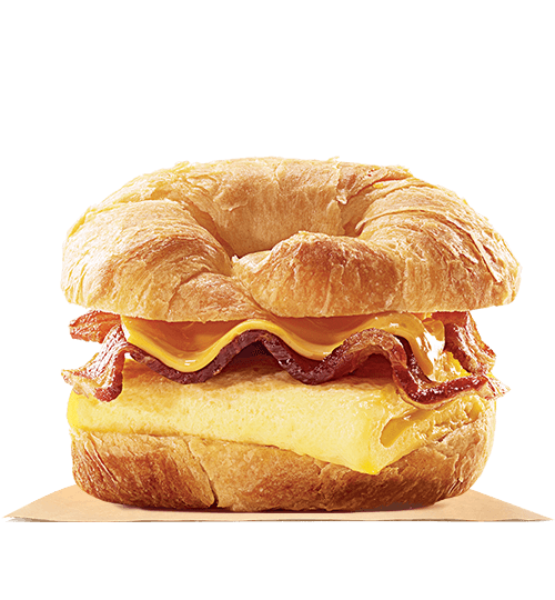 Ham egg and cheese png. Bacon croissan wich burger