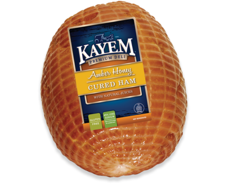 Ham transparent cured. Amber honey kayem