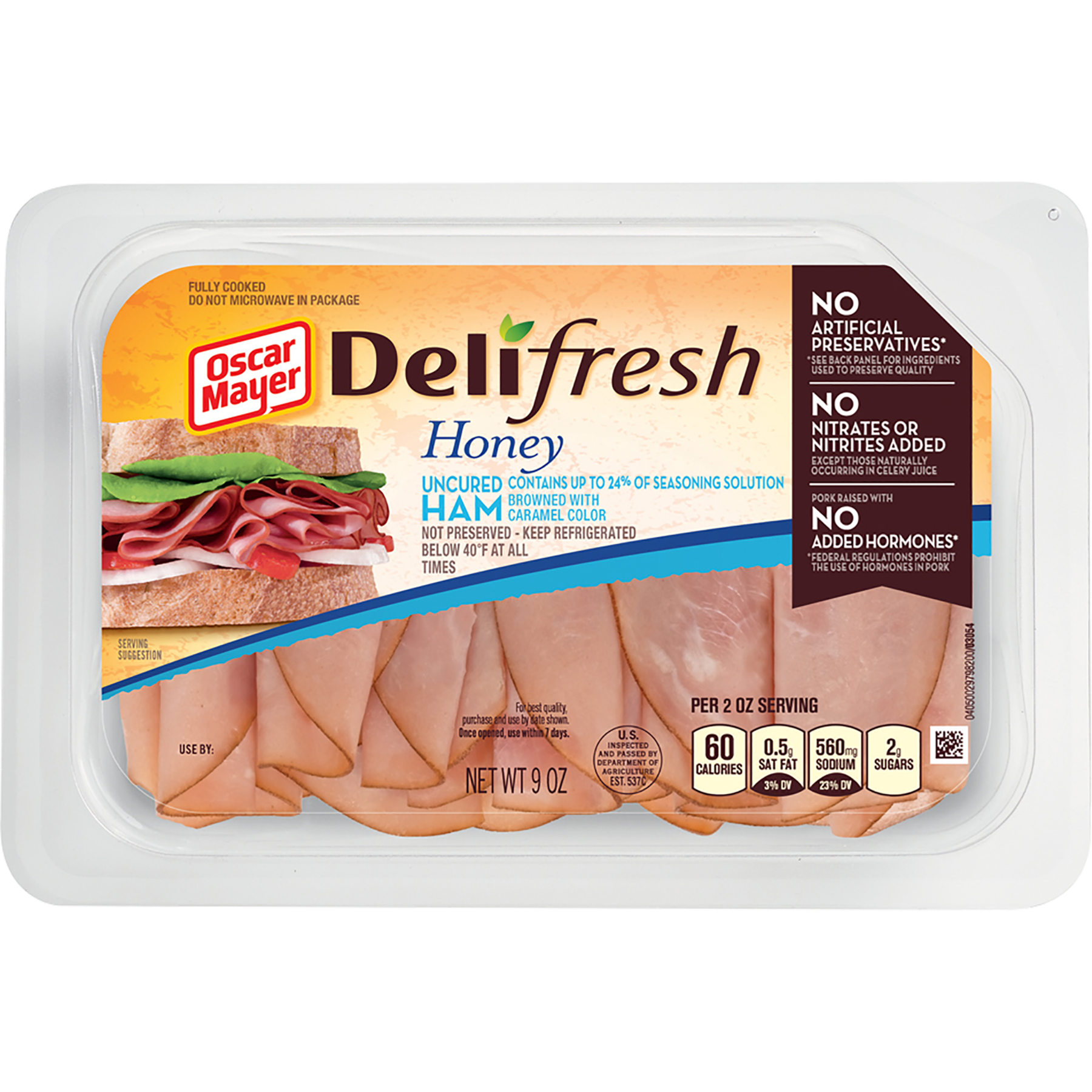 Ham transparent preserved. Oscar mayer deli fresh