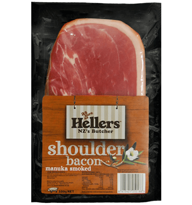 Transparent bacon middle cut. Shoulder rashers manuka smoked