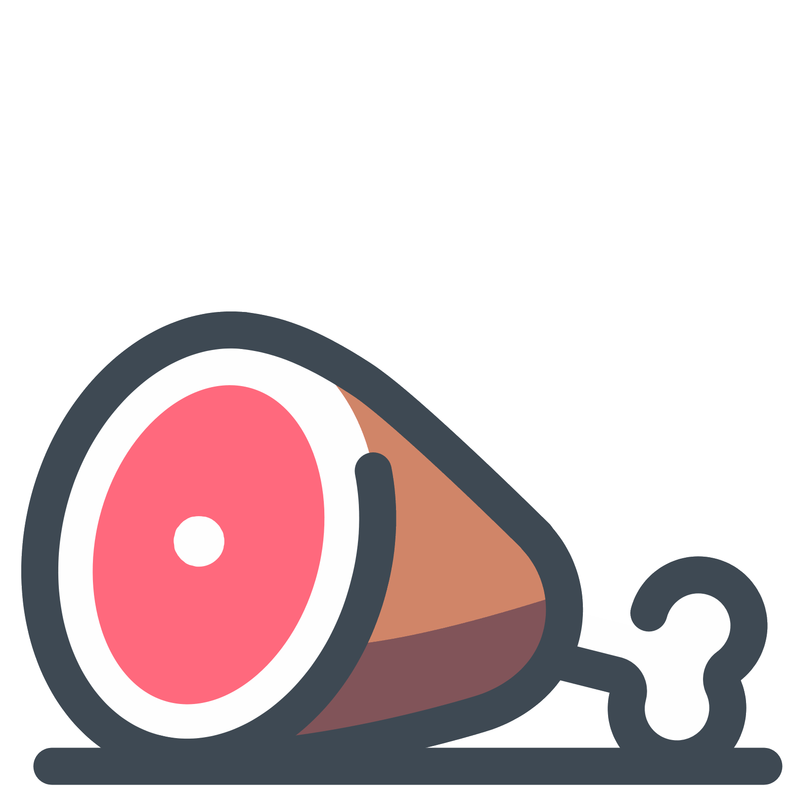 Ham vector. Icon free download png