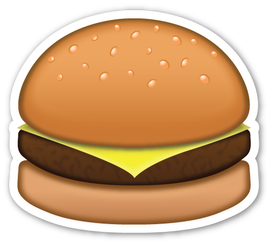 Hamburger cartoon png. Emojistickers com
