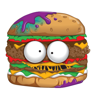 Hamburger cartoon png. Horrid the grossery gang