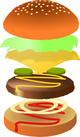 Hamburger clipart. I royalty free public