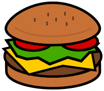 Hamburger clipart. Food meat png html