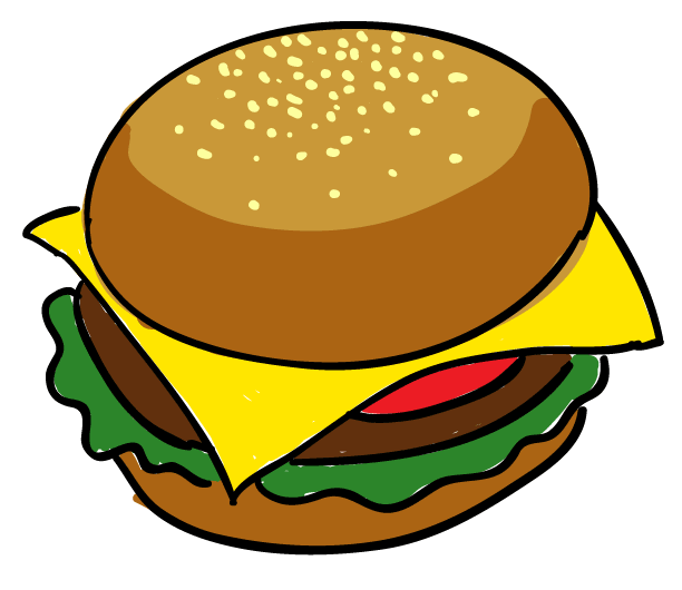Hamburger clipart buger. Veggie burger free collection