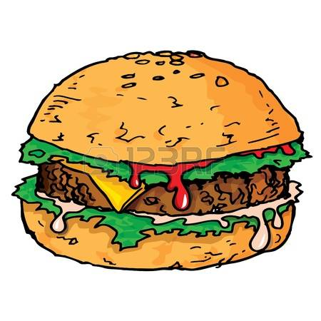 Hamburger clipart buger. Meat food pencil and