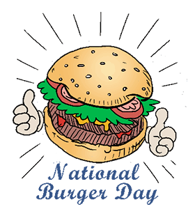 Hamburger clipart healthy burger. National day calendar history