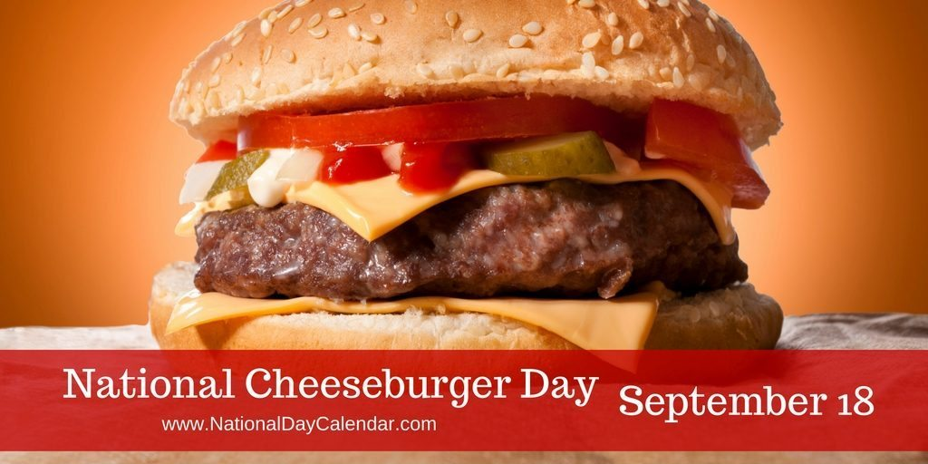 Hamburger clipart burger day. National cheeseburger september calendar