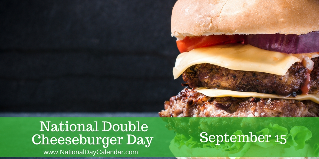 Hamburger clipart burger day. National double cheeseburger september