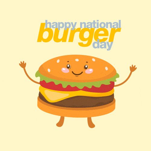 Hamburger clipart burger day. Happy nation national days