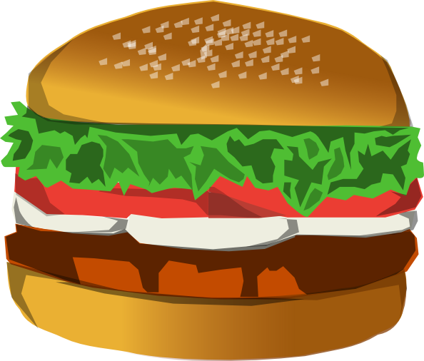 Hamburger svg comic. Burger clip art at