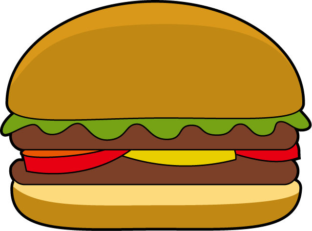 Hamburger svg comic. Clipart cute cartoon pencil