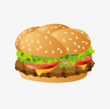 Hamburger clipart comic. Hand painted cartoon png