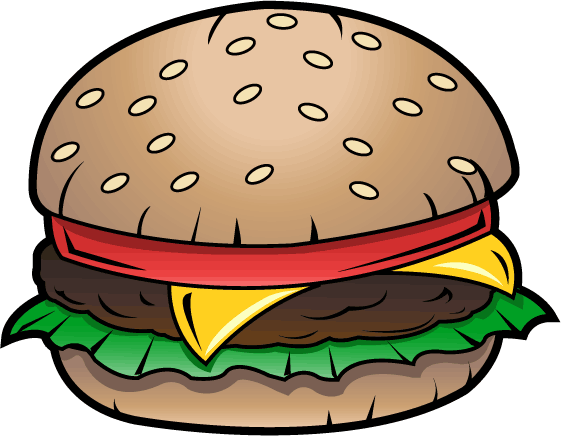 Hamburger clipart comic. Cartoon burger library clip