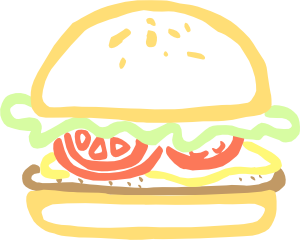Hamburger clipart comic. Burger clip art at