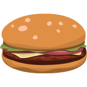 Hamburger clipart comic. Cheeseburger burger fast food