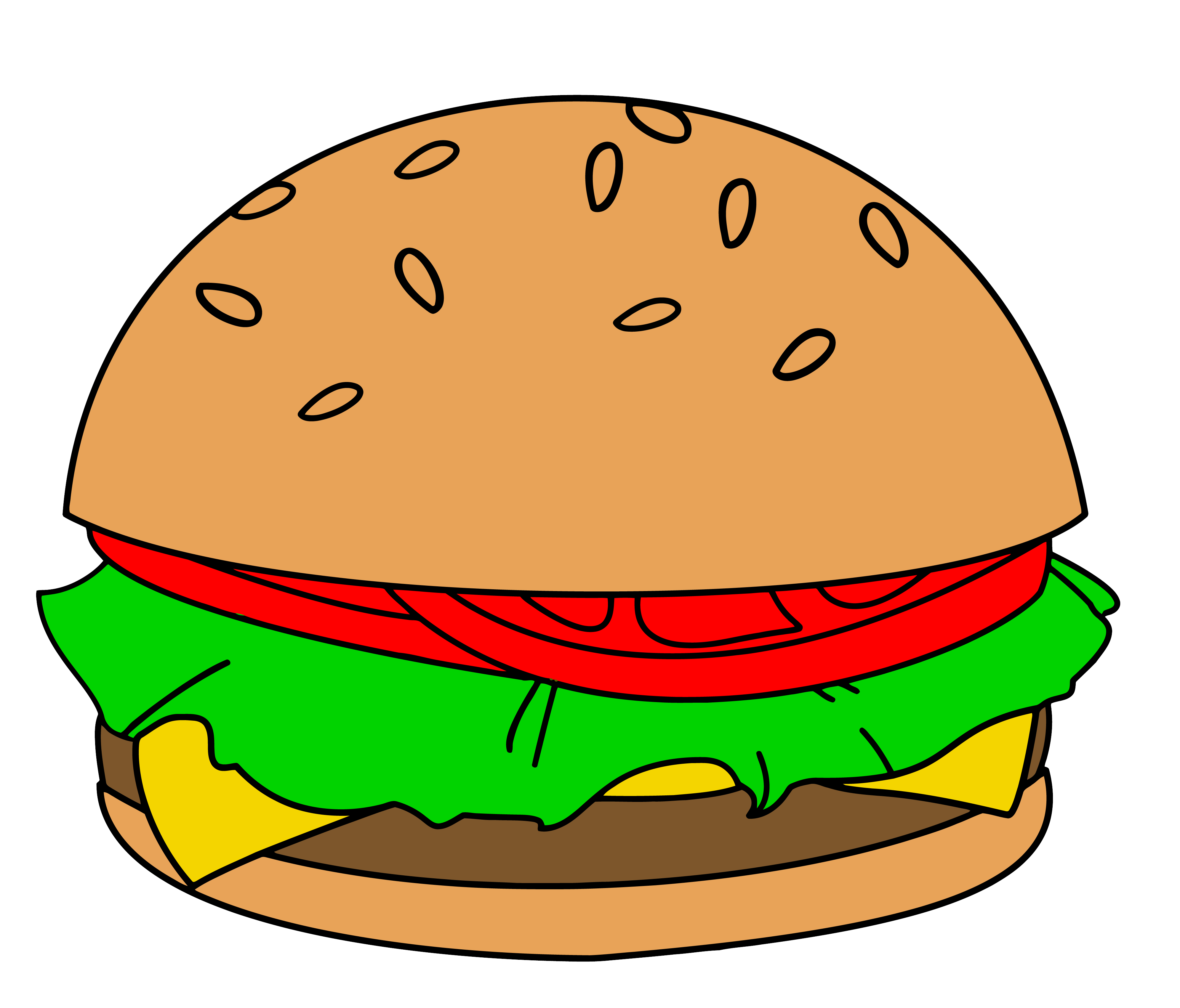 Hamburger clipart comic. Cute cartoon pencil and