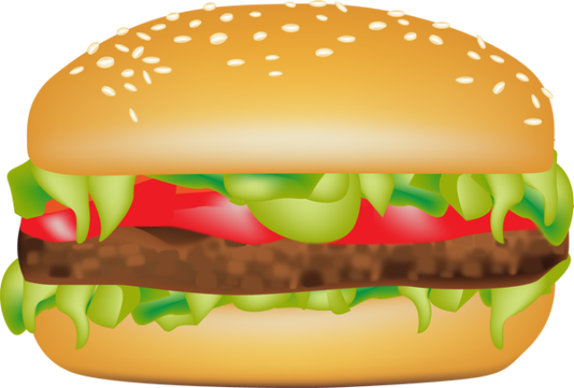 Burger clipart bbq burger. Clip art hamburger library