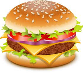 Hamburger clipart healthy burger. Best fast food