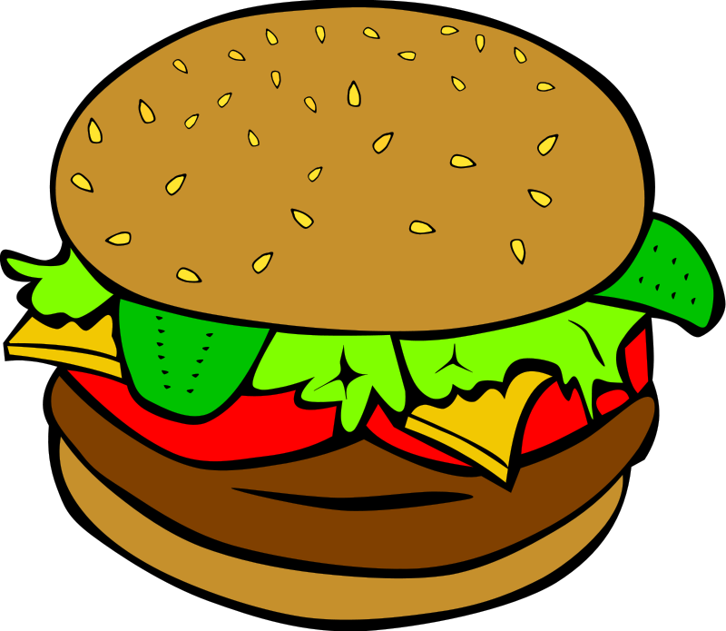 Hamburger clipart hamburger fry.