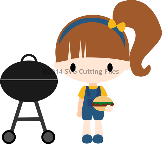 Hamburger svg bbq. Cutting files for silhouette