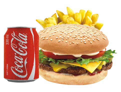 Hamburger with fries png. Frydays dinner all meal