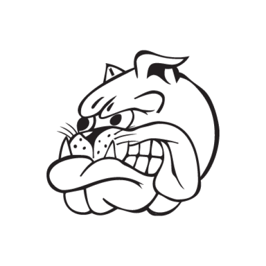 Hamilton vector face. Bulldogs club logo download