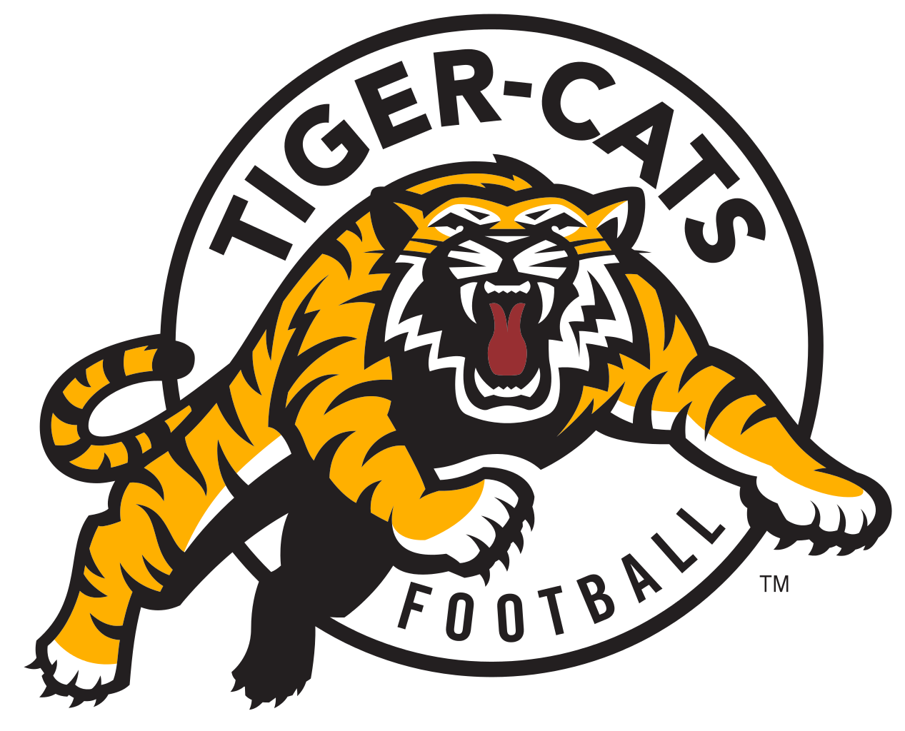Hamilton vector face. Tiger cats logos