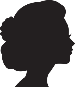 Hamilton vector face. Man profile silhouette at