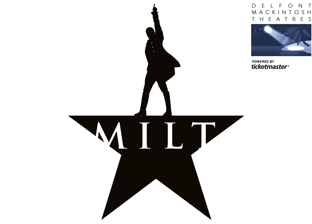 Hamilton vector face. Official ticketmaster site header
