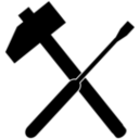 Hammer clipart hammer screwdriver. And wrench icon i