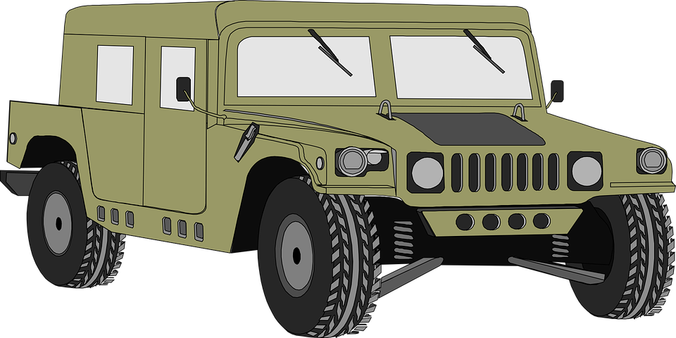 Hammer clipart hard object. Hummer military truck free