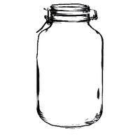 Transparent jar flip top. Download mason category png