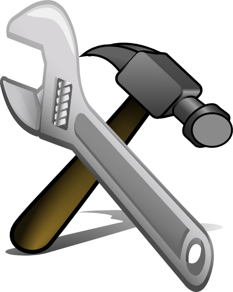 Hammer clipart spanner. Crossed and clip art