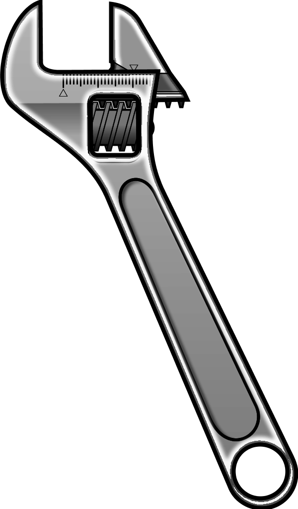 Wrench clipart bent. Free spanner icon download