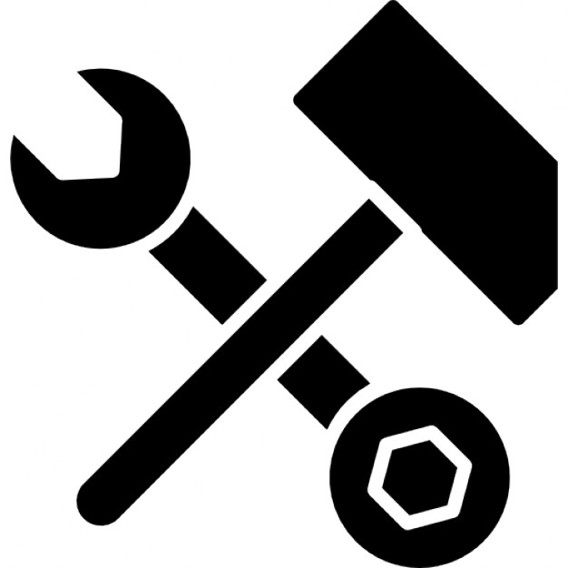 Hammer clipart spanner. Wrench and bolt tool