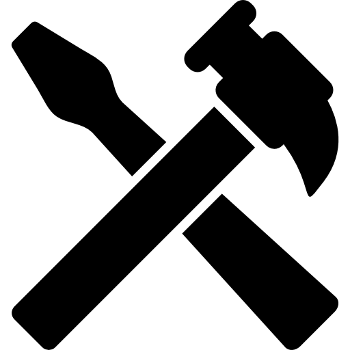 Hammer png icon. And screwdriver tools cross