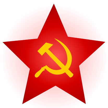 Hammer sickle png. Image and red star