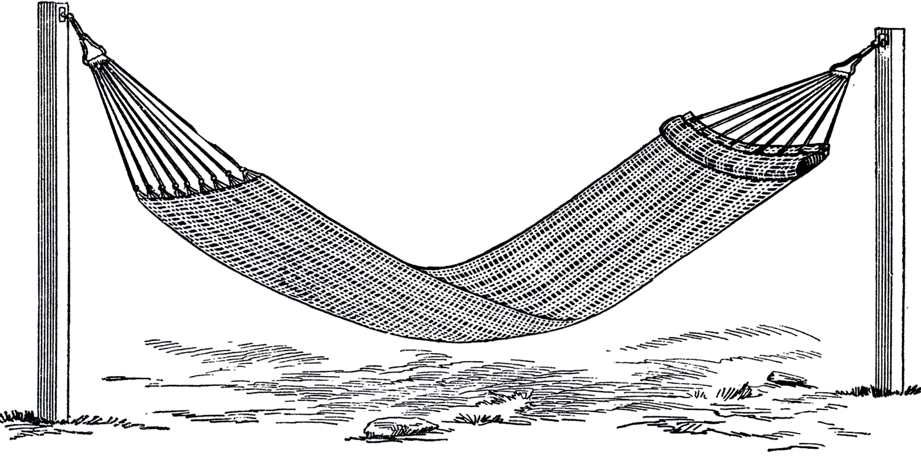 Hammock clipart old. Vintage image the graphics