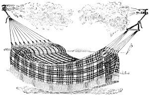Hammock clipart old. Black and white fashioned