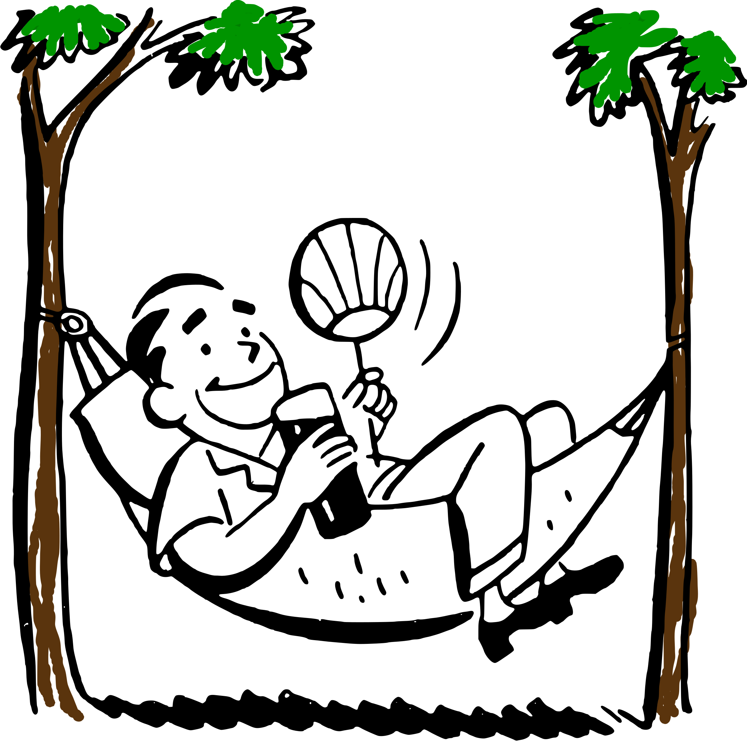 tree clipart man