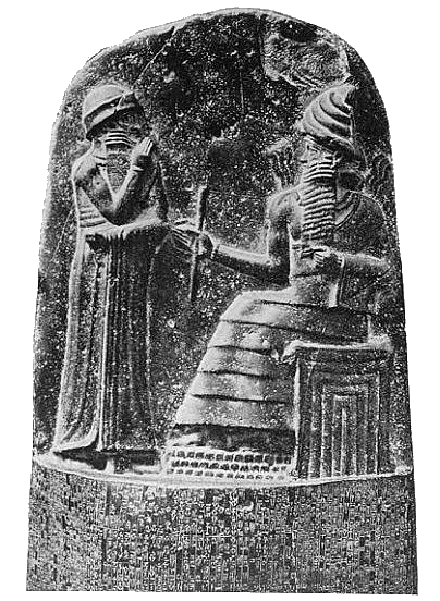 Hammurabi drawing crown. S code and the