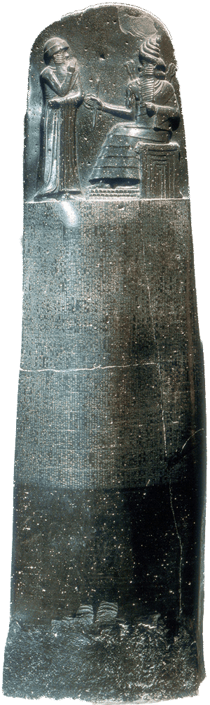 Hammurabi drawing india ancient. S code an eye