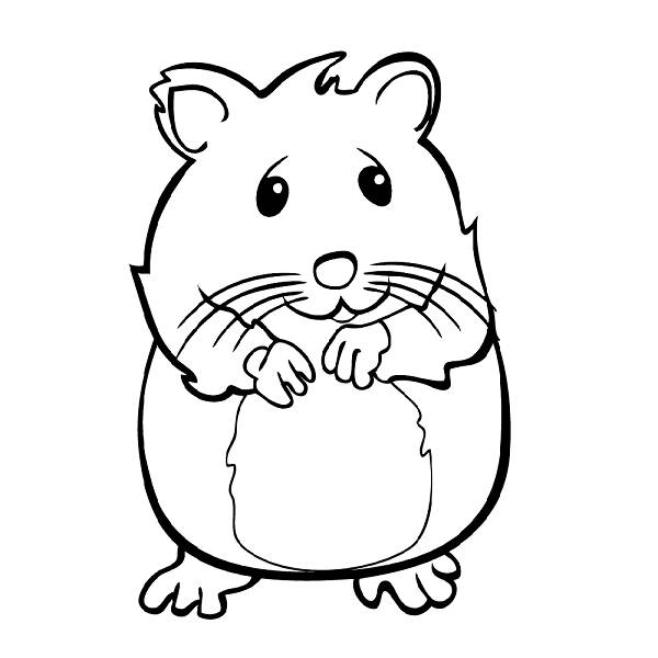 Hamster clipart humphrey. The coloring pages cute