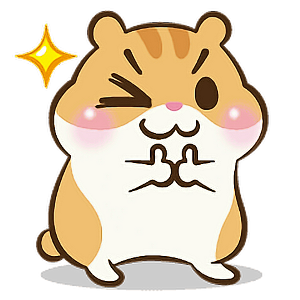 Kawaii clipart hamster. Animals cute tumblr ftestickers